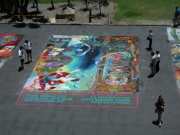 Madonnari 20th Anniversary street art in 2006