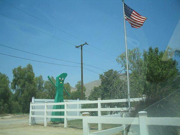 Gumby on the ranch
