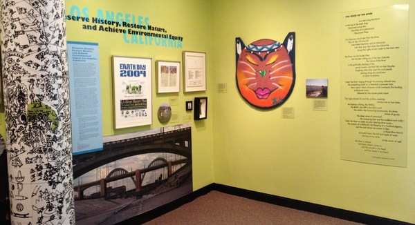 The exhibit highlights the work of community leaders in greening the L.A. River, including Leo Limon's River Catz