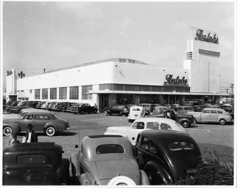 Grand Opening on April 25, 1942 at the corner of Crenshaw and Rodeo Rd | Courtesy of USC Digital Archives