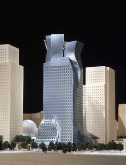 Frank Gehry's model for the never-built L.A. Rapid Transit District Headquarters