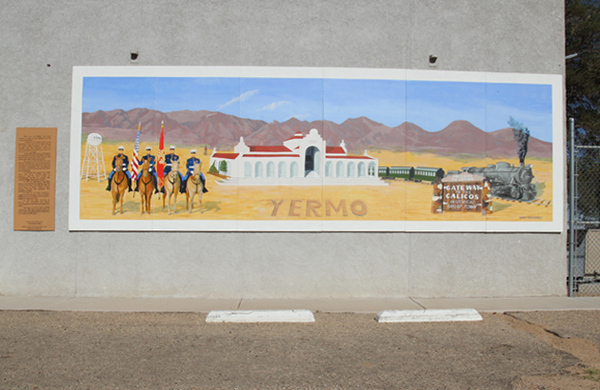 Far off Barstow's Main Street is a Main Street Mural project in Yermo that Calico Ghost Town and The Barstow Marine Corps Logistics Base I Photo: Fuentes