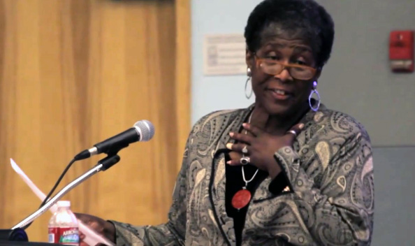 Wanda Coleman at Cal State L.A., May 2013