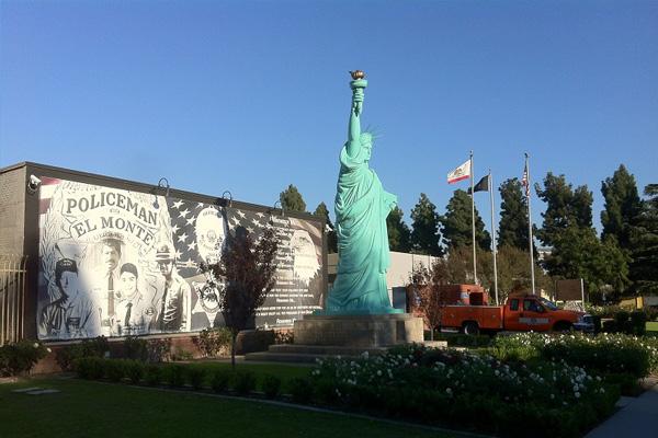 Statue of Liberty in El Monte's Civic Center