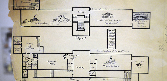 The Storify of Departures' Highland Park Chapters includes exclusive content such as the image of the Southwest Museum floor plan shown above.