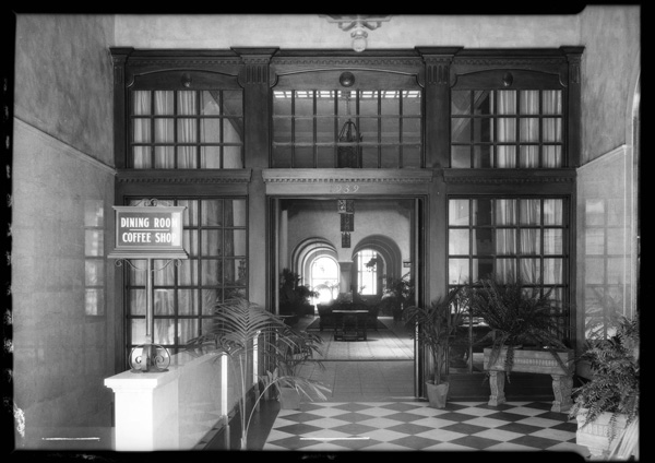 Hotel interior, 1926 | Dick Whittington Studio Collection, USC Digital Library