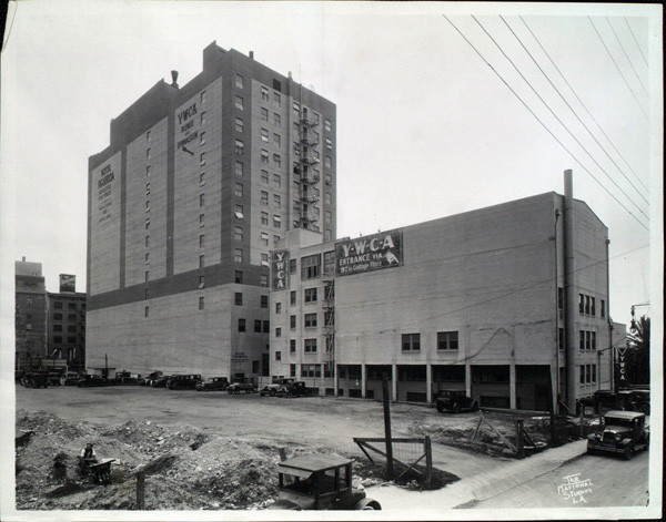 Rear exterior of Hotel Figueroa, ca. 1940 | USC Digital Library