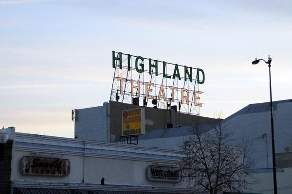 Highland Park Theatre.