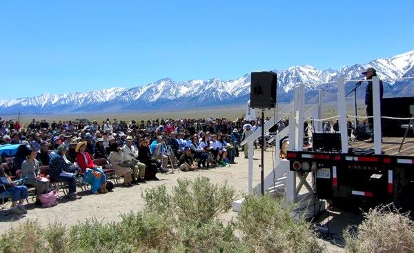 The main Manzanar Pilgrimage event in 2011 | Photo: Zach Behrens/KCET