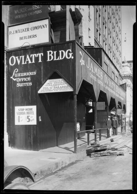 Oviatt Buliding under construction, 1927 | Dick Whittington Photography Collection, 1924-1987, courtesy of the USC Digital Library