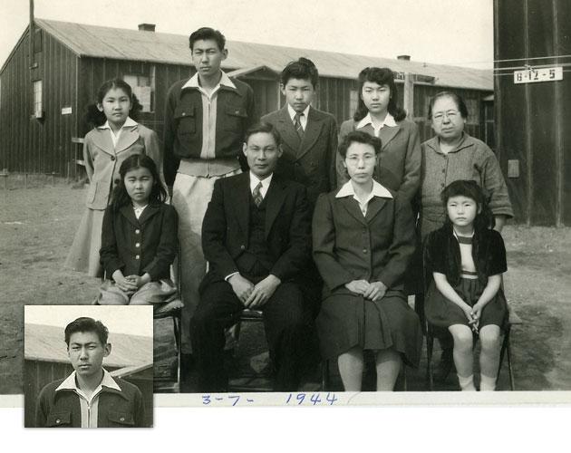 Takashi Hoshizaki and family