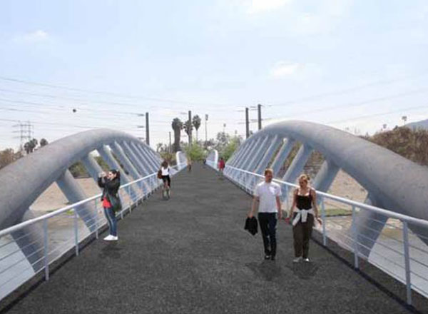 City of Glendale Narrows Riverwalk Project Bridge Design - Concrete Truss Bridge