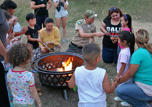 Marshmallow roasting at Marsh Park | Photo: Rubi Fregoso