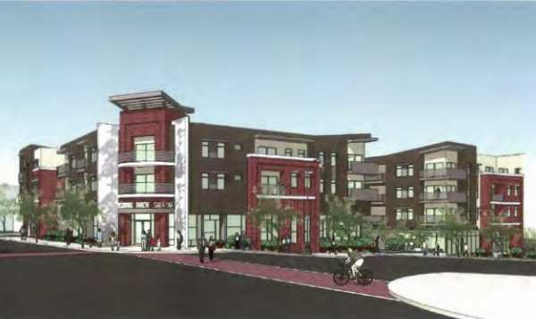 Artist rendering of the Santa Cecilia Apartments from the Metro Planning and Programming memo