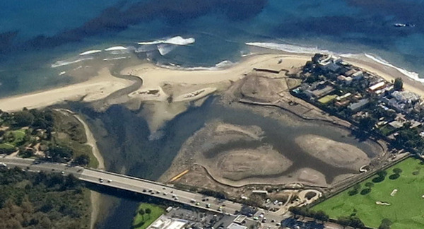 Aerial view of Malibu Lagoon | Courtesy of Santa Monica Bay Restoration Commission (SMBRC), made possible by LightHawk