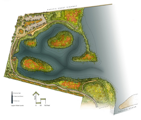 Rendering of the site plan | Courtesy of Caifornia State Coastal Conservancy