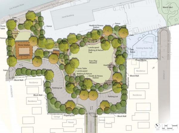 Plans for Marsh Park expansion | Courtesy of the MRCA