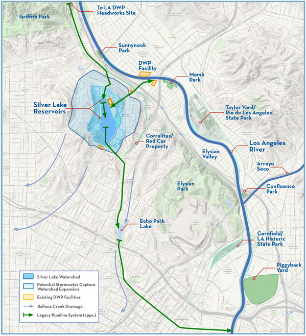 Regional water management solution for the Silver Lake Reservoirs | Courtesy of Craig Collins