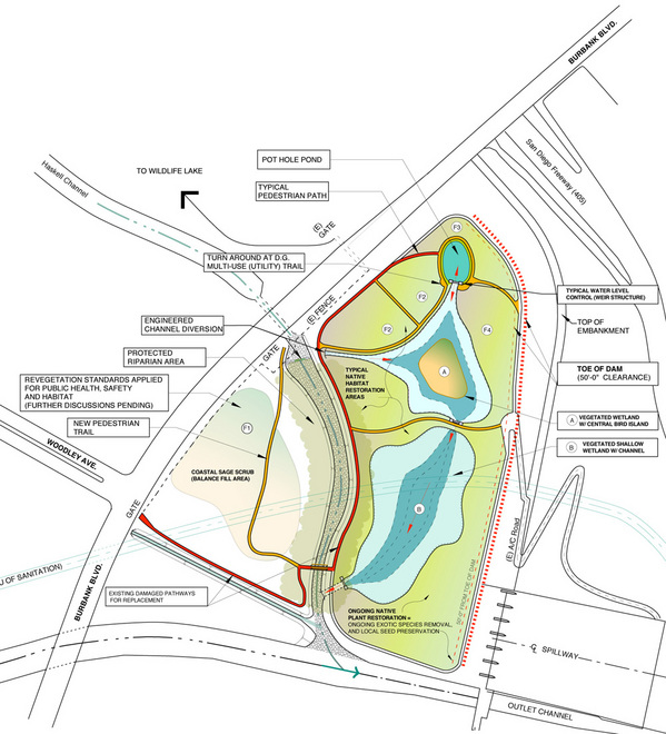 Sepulveda Basin South Wildlife Area Community Restoration Proposal | Courtesy of the San Fernando Valley Audubon Society