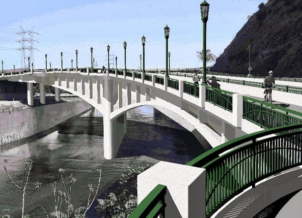 Rendering of new Riverside Figueroa Bridge