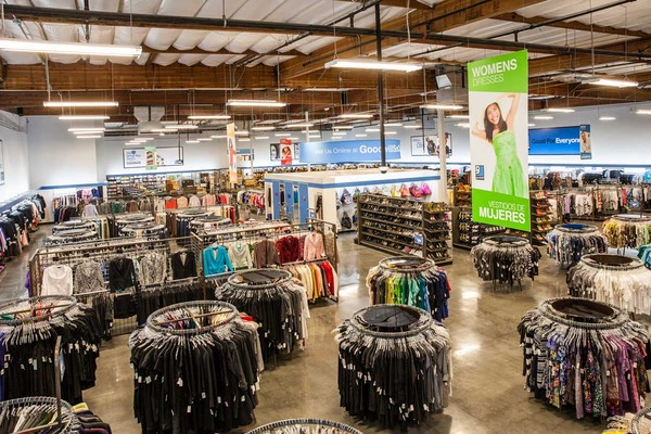 Top view of the retail store | Photo: Courtesy of Goodwill Southern California