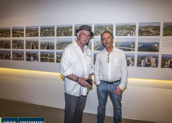 Lewis MacAdams, founder of Friends of the L.A. River, with photographer Lane Barden | Photo: Luke Gibson