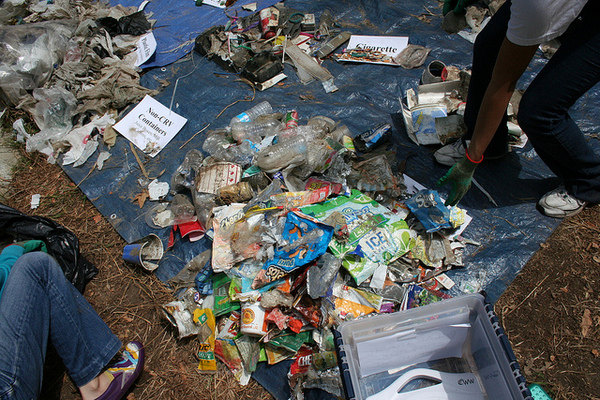Trash collected from the FoLAR CleanUp, 2013