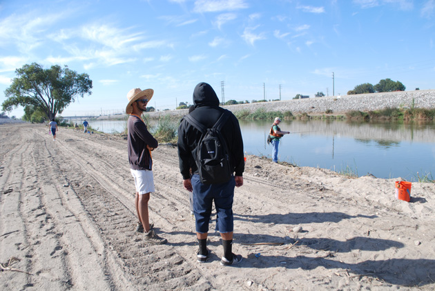 After clearing at the L.A. River by Willow Street Estuary in Long Beach | Photo: William Preston Bowling