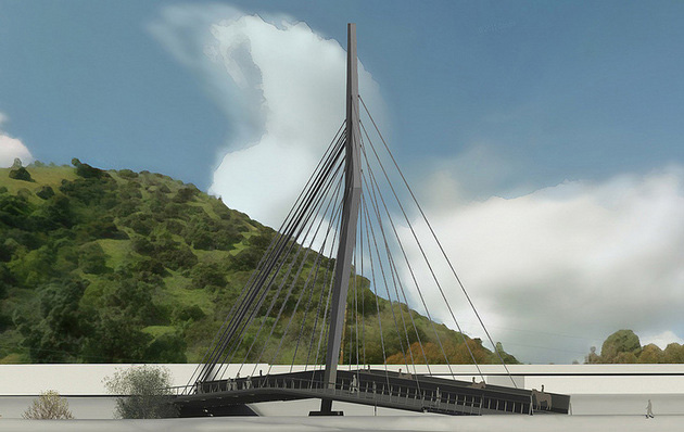 Rendering of proposed La Kretz bridge.