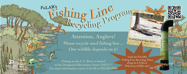 Educational flyers were distributed along the L.A. River recreational zone