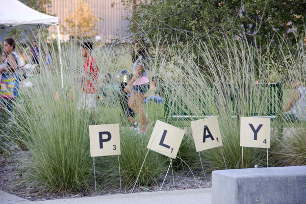 Play the L.A. River sign at Marsh Park | Photo: Carren Jao