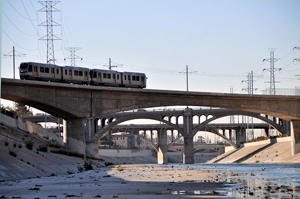 The safety of pedestrians near the rail is a primary concern for both rail and river parties though studies show that safe corridors along the rails is possible. Photo by KCET.