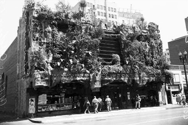 Clifton's Pacific Seas Cafeteria in 1930s prior to being torn down. Courtesy of USC Libraries Special Collections.