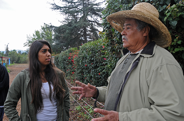 Angel Abarca provides advice to South El Monte student