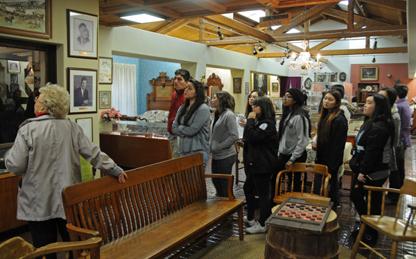 Students tour the El Monte Museum