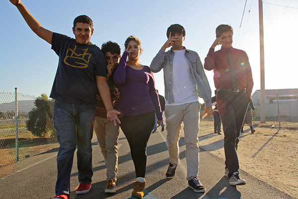 Youth Voices takes a walk along the San Gabriel River path