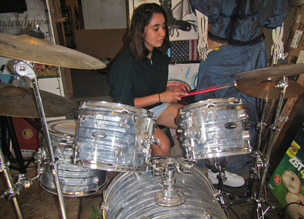 Jayda on Drums