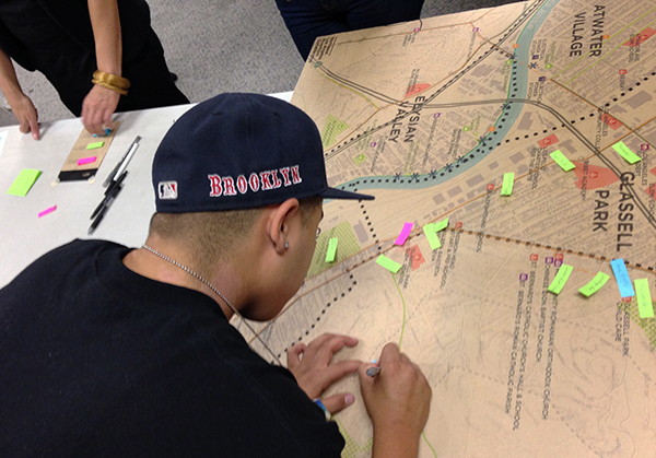 LARS student identifying community assets and resources.