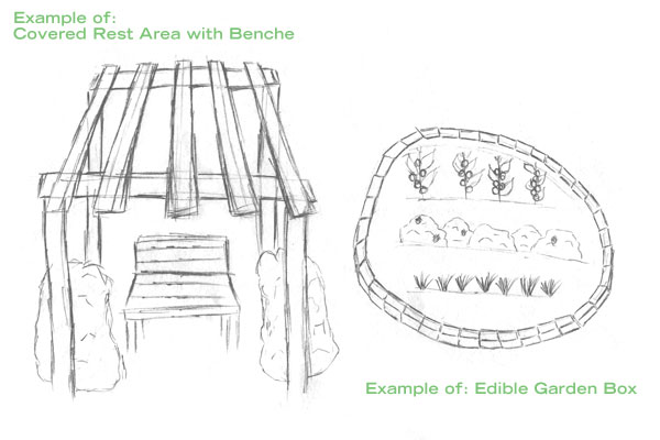 Proposed layout of the garden.