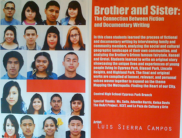 Central High School Cypress Park students explored documentary writing