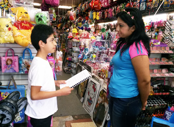 Wright student Interviews Ms. Garcia at the Valley Mall