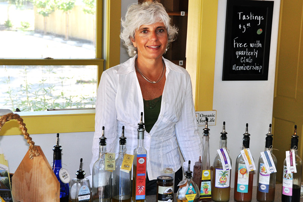 Theo offers tastes at her Los Olivos shop