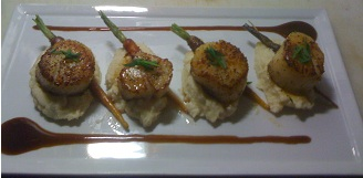 A slightly different pan seared scallops entrée recently featured at Taste (Photo: Courtesy of Brian Sheard/Taste)