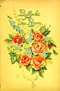 A tea room menu cover, courtesy The Los Angeles Public Library Photo Collection