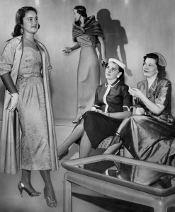 A tea time fashion show, courtesy The Los Angeles Public Library Photo Collection
