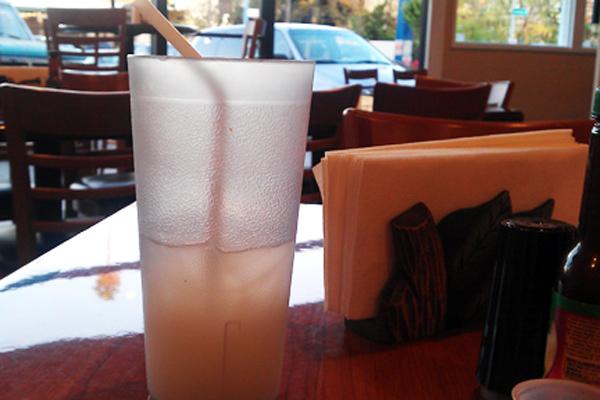 A refreshing guanaba drink at Las Delicias