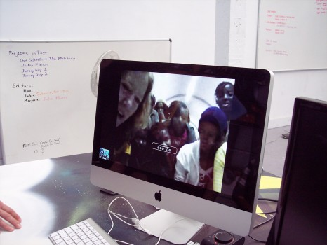 The Soweto GlobalGirls Skype In with Amie (on left)