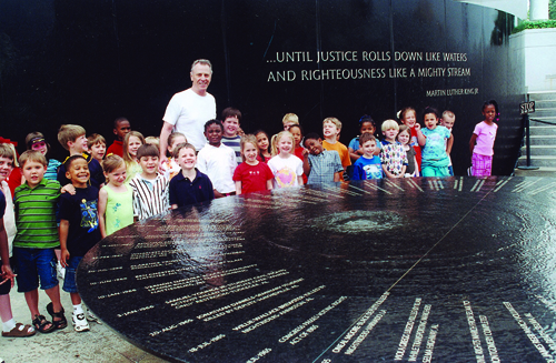 Morris Dees and children