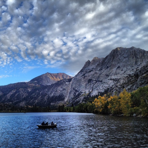 Some fall color at Silver Lake in Mono County. | Instagram Photo: Zach Behrens/KCET
