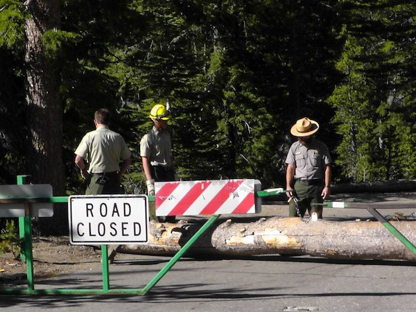 Before the road into Devils Postpile National Monument was opened on Friday, June 29, 2012 | Photo: Courtesy National Park Service